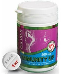 Immunity Up Витаминный комплекс для частоболеющих и ослабленных кошек, 200 таб.
