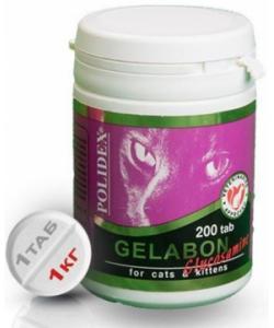 Gelabon plus Glucozamine Витаминный комплекс для кошек (при заболевании суставов), 200 таб.