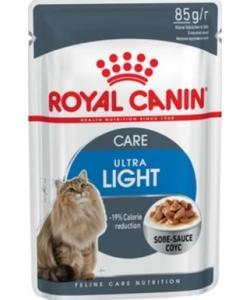 Кусочки в соусе для кошек: 1-7 лет, низкокалорийный (Ultra Light)
