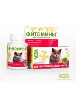 Фитомины для Кастрированных котов, 100таб.