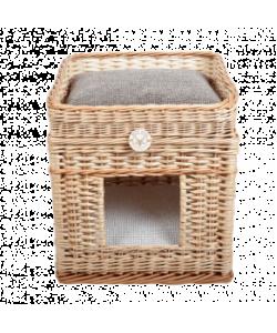 Плетеный домик 2-х этажный квадратный для животных 42*42*48 см