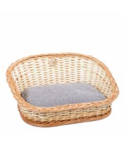 Плетеная лежанка овальная для животных 46*36*25 см