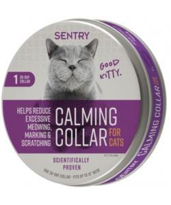 SENTRY Calming Collar Ошейник для кошек успокаивающий с феромонами, 1 шт.
