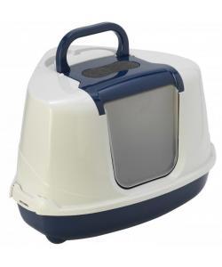 Туалет-домик угловой Flip с угольным фильтром, 55х45х38см, черничный