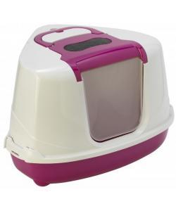 Туалет-домик угловой Flip с угольным фильтром, 55х45х38см, ярко-розовый