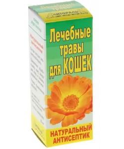 """Настойка лечебных трав """"Натуральный антисептик"""" (ранозаживляющее) для кошек"""