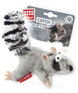 """Игрушка для кошек """"Енот"""" с кошачей мятой,текстиль, 8см (75384)"""