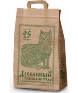 Древесный наполнитель, 25 л (бумажный пакет)