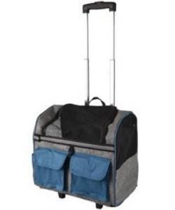 Сумка-рюкзак для животных на колесах KIARA двойная, 45*29*45см, синяя