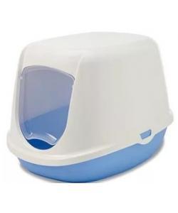 "Туалет-домик для котят ""Duchesse"" 44,5*35,5*32см, голубой"