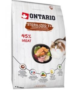 Для пожилых стерилизованных кошек с курицей (Ontario Cat Sterilised 7+)