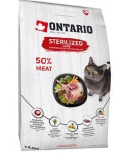 Для стерилизованных кошек с ягненком (Ontario Cat Sterilised Lamb)