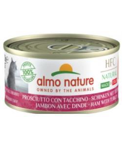 """Консервы для кошек Итальянские рецепты:""""Ветчина и индейка"""" (HFC Natural Made in Italy Ham with Turkey)"""