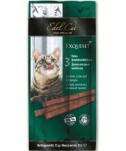 Колбаски для кошек с уткой, печенью и кошачьей травой - 3шт