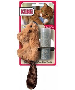 """Игрушка для кошек """"Бобер"""" 15 см плюш с тубом кошачьей мяты"""