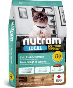 Сухой корм для кошек с чувствительным пищеварением, кожей и шерстью I19 Nutram Ideal Solution Support Sensitive Skin