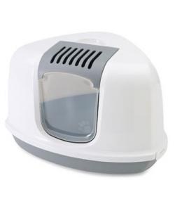 Туалет-домик угловой NESTOR Corner серый 58,5*45,5*40 см