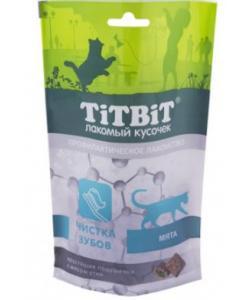 Хрустящие подушечки для кошек с мясом утки для чистки зубов