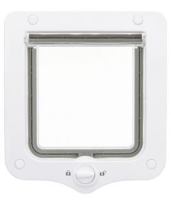 Дверца для кошки 2 позиции, клапан 14 х 15,5 см, белая (44201)