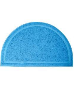 Коврик для кошачьего туалета полукруглый, голубой, 40*25см