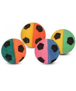 """Игрушка для кошек """"Мяч футбольный"""" двухцветный, 4см, 1 шт."""
