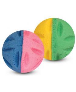 """Игрушка для кошек """"Мяч цветочный"""" двухцветный, 3,5см, 1 шт."""