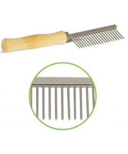 Расческа с редкимии зубьями, деревянная ручка, 3*17.5 см (305М)