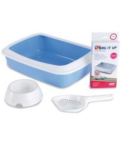 Набор для котят Starter Kit голубой (туалет IRIZ 42 см, пакеты,совок, миска)