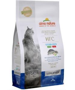Корм для взрослых и пожилых стерилизованных кошек, со свежей морской рыбой: окунь и лещ (50% рыбы)