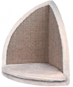 Когтеточка-доска угловая, 35*50*35 см, светло-серая (43162)