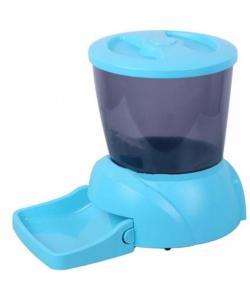 Автокормушка на 2 кг корма для кошек и мелких пород собак голубая PF7B