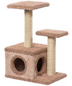 Домик для кошек ковролиновый «Лежо» 62*42*88 см, сизаль
