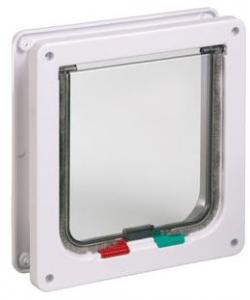 Дверь-Створка 4 позиции для толстых стен, клапан 14,6 х 15,6  белая