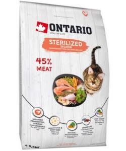 Для стерилизованных кошек с лососем (Ontario Cat Sterilised Salmon)