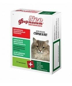 """""""Фармавит NEO"""" витамины для кошек старше 8 лет, 60 таб."""