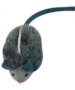 Игрушка Мышь плюшевая со звуковым чипом 7*4.5 см