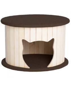 """Комплекс для кошек  """"Ника"""", темно-коричневый 50*45*34 см"""