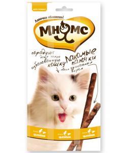 Лакомые палочки для кошек цыпленок/печень, 3 шт.по 5 гр