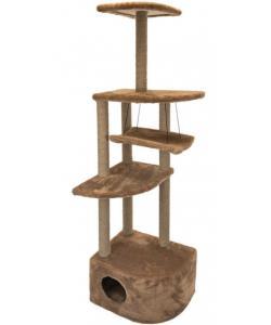 """Комплекс-когтеточка """"Башня угловая"""" с гамаком, 48*48*h171 см, джут, коричневый"""