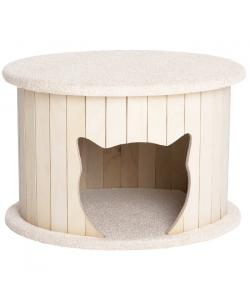 """Комплекс для кошек  """"Ника"""" белый 50*45*34 см."""