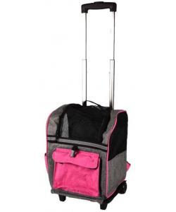 Сумка-рюкзак для животных на колесах KIARA 32*29*45см, розовая