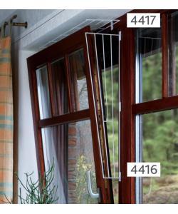Решетка защитная для окон, боковая панель, 62 х 16/8 см, белая (4416)