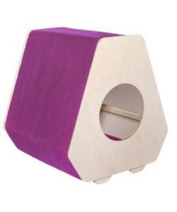"""Домик-когтеточка """"Отис"""", фиолетовый, 45,5*45,5*50см, ковролин"""