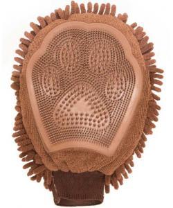 Перчатка для груминга Grooming Mitt, 25*18 см, коричневая