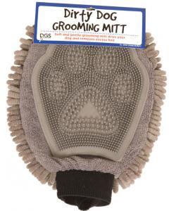 Перчатка для груминга Grooming Mitt, 25*18 см, серая