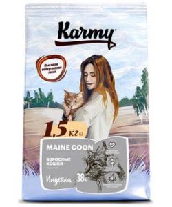 Сухой корм для взрослых кошек старше 1 года породы мейкун 73282
