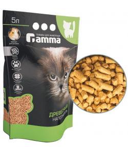 Древесный наполнитель, мелкие гранулы, Gamma 5л
