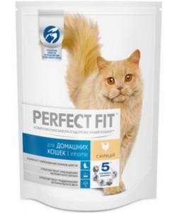 Сухой корм для домашних кошек, с курицей (PERFECT FIT Inhome)