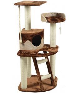 Комплекс для кошек многоярусный с домом, лестницей и лежанкой 55*55*120 см (TM-07)