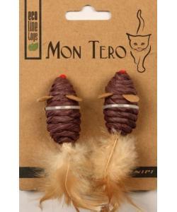 """ЭКО игрушка """"МЫШЬ"""" с кошачьей мятой, 5 см, фиолетовые 2 шт."""